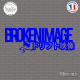 Sticker JDM Broken Images Sticks-em.fr Couleurs au choix