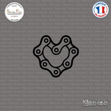 Sticker JDM Coeur Chaine