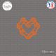 Sticker JDM Coeur Chaine Sticks-em.fr Couleurs au choix