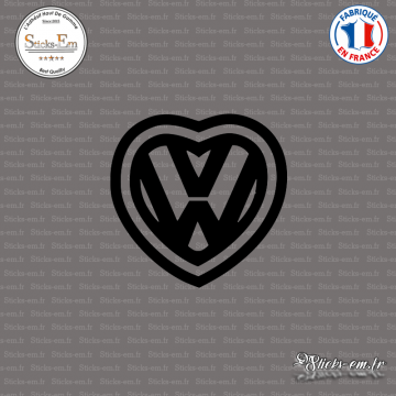 Sticker JDM Coeur Vw