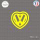 Sticker JDM Coeur Vw Sticks-em.fr Couleurs au choix