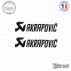 2 Stickers Akrapovic