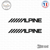 2 Stickers Alpine Sticks-em.fr Couleurs au choix