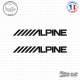 2 Stickers Alpine