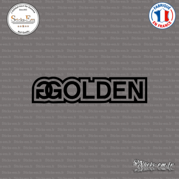 Sticker JDM Golden