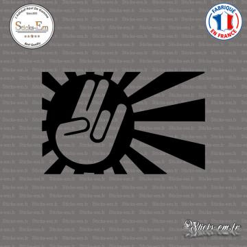 Sticker JDM Hand Japan Sun