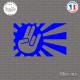 Sticker JDM Hand Japan Sun Sticks-em.fr Couleurs au choix