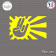 Sticker JDM Hand Japan Sun Sticks-em.fr Couleurs au choix