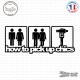 Sticker JDM How To Pick Up Chics Sticks-em.fr Couleurs au choix