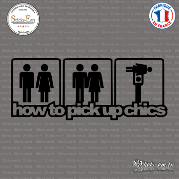 Sticker JDM How To Pick Up Chics