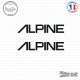 2 Stickers Alpine Logo