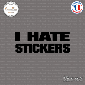 Sticker JDM I Hate Stickers