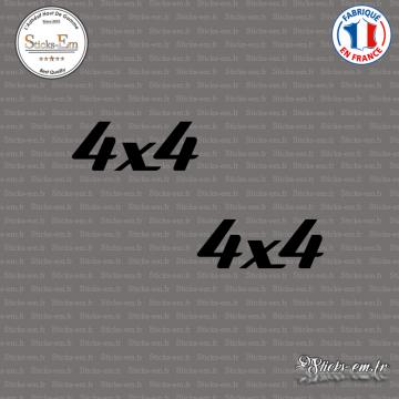 2 Stickers 4x4