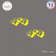 2 Stickers 4x4 Sticks-em.fr Couleurs au choix