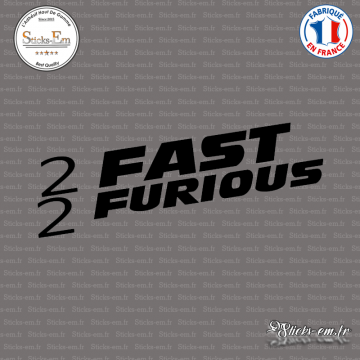 Sticker 2 fast 2 furious