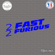 Sticker 2 fast 2 furious Sticks-em.fr Couleurs au choix