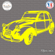 Sticker deux chevaux sticks-em.fr