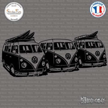 Sticker 3 Volkswagen Surf Vans