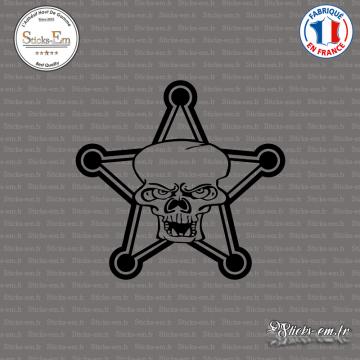 Sticker Shérif tête de mort