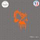 Sticker Tête de Mort Sticks-em.fr Couleurs au choix