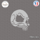 Sticker Tête de Mort V2 Sticks-em.fr Couleurs au choix