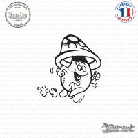 Sticker Champignon coureur