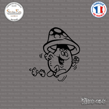 Sticker Champignon coureur