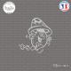 Sticker Champignon coureur Sticks-em.fr Couleurs au choix