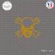 Sticker Tête de Mort x Sticks-em.fr Couleurs au choix
