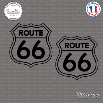 2 Stickers Route 66