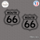 2 Stickers Route 66 Sticks-em.fr Couleurs au choix