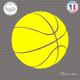 Sticker Ballon de Basket Sticks-em.fr Couleurs au choix