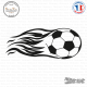 Sticker Ballon de Football Flammes