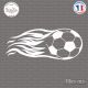 Sticker Ballon de Football Flammes Sticks-em.fr Couleurs au choix