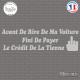 Sticker Paye ton Crédit Sticks-em.fr Couleurs au choix