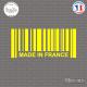 Sticker Code Barre Made in France Sticks-em.fr Couleurs au choix