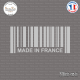 Sticker Code Barre Made in France Sticks-em.fr Couleurs au choix