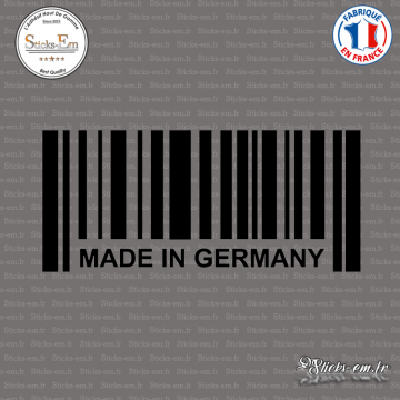Sticker Code Barre Made in Germany
