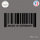 Sticker Code Barre Made in Germany Sticks-em.fr Couleurs au choix