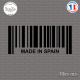 Sticker Code Barre Made in Spain Sticks-em.fr Couleurs au choix