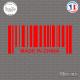 Sticker Code Barre Made in China Sticks-em.fr Couleurs au choix