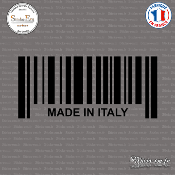 Sticker Code Barre Made in Italy
