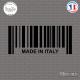 Sticker Code Barre Made in Italy Sticks-em.fr Couleurs au choix