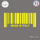 Sticker Code Barre Made in Italy Sticks-em.fr Couleurs au choix