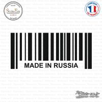 Sticker Code Barre Made in Russia