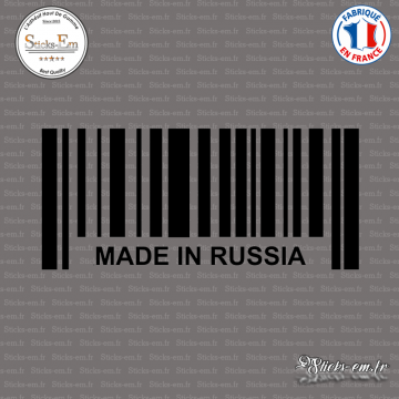 Sticker Code Barre Made in Russia