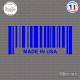Sticker Code Barre Made in USA Sticks-em.fr Couleurs au choix
