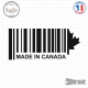 Sticker Code Barre Made in Canada Sticks-em.fr Couleurs au choix