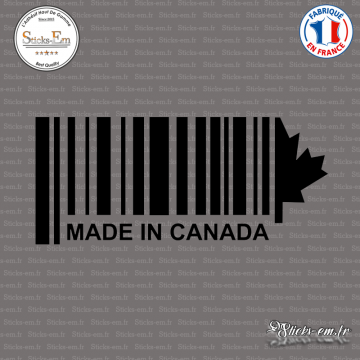 Sticker Code Barre Made in Canada