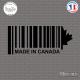 Sticker Code Barre Made in Canada Sticks-em.fr Couleurs au choix